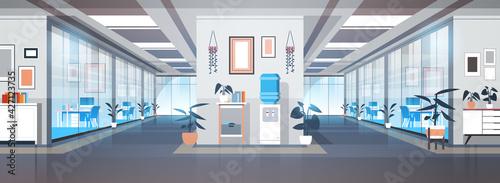 Fotografie, Obraz empty coworking area no people open space modern office interior horizontal