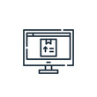 ecommerce icon. Thin linear ecommerce outline icon isolated on white background. Line vector ecommerce sign, symbol for web and mobile.