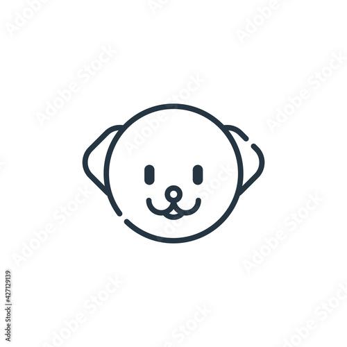Billede på lærred bichon frise icon