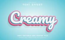 Creamy Text Effect Editable