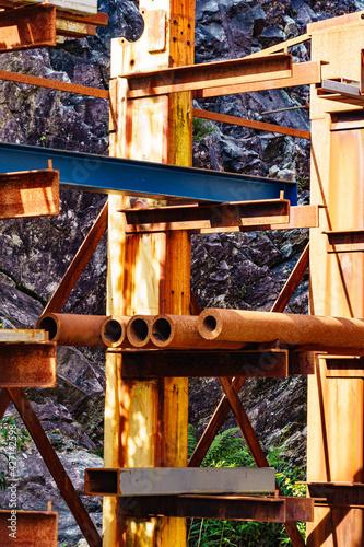 Fotografie, Obraz Metal pipes on rack