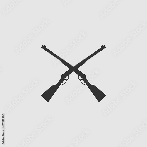 Obraz na plátně Vector Simple Isolated Crossed Rifles Icon
