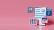 3d render of personal data business. Premium photo
