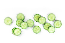 Cucumber Slices In Water, The Concept Of Healthy Skincare