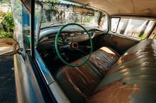 Cuba, Havana - April, 2017 Retro Car As Taxi For Tourists. Interior