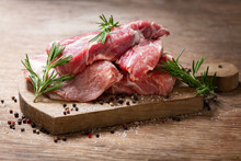 Fresh Pork Meat With Rosemary And Spices