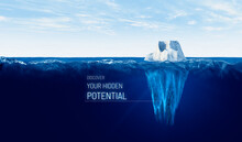 Discover Your Hidden Potential Concept With Iceberg