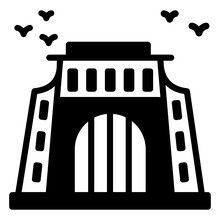 Voortrekker Monument Glyph Icon Is Premium And Easy To Download