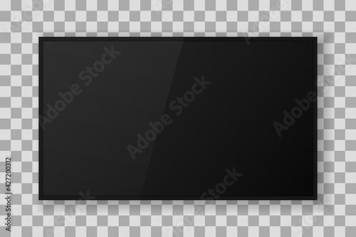 Obraz modern tv mockup 3d icon - fototapety do salonu