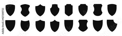 Fotografia Shield icon set. Protection flat sign.