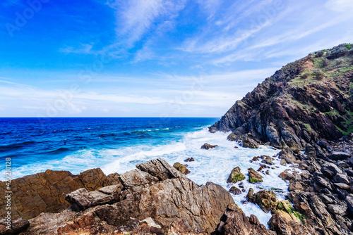 Fotografie, Obraz Rocky coastal views at Byron Bay, New South Wales, Australia.