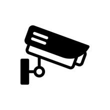 Cctv Camera Vector Glyph Icon. Hotel And Services Symbol EPS 10