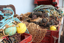 Ropes, Buoys And Fishing Nets In A Port In Vendée (france)