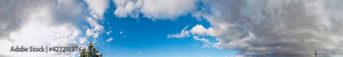 Fotografie, Obraz panorama of the church dome and the sky with exquisite clouds