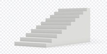 Isolated Stair. 3D Realistic Staircase On Transparent Background. Building Object, Architecture Or Interior Vector Element