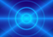 Graphics Design Circle Style Glow Abstract Background Blue Color Tone Vector Illustration