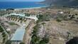 Mylopotas sur l'île d'Ios dans les Cyclades en Grèce vue du ciel