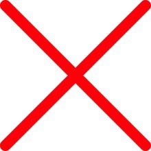 細い線の赤いバツマーク No.02