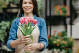 Good offer from flower shop, seasonal sale and spring flowers