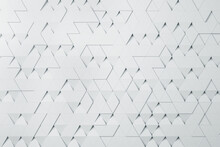 White Triangular Particles Background Abstract Design. Wallpaper Concept, 3d Rendering