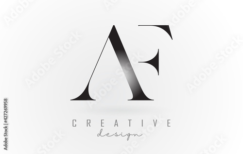 Obraz AF a f letter design logo logotype concept with serif font and elegant style vector illustration. - fototapety do salonu