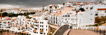 Sea Resort Lagos In South Portugal Under Dramatic Sky