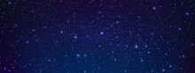 A High Quality Astrology Horizontal Background Galaxy Illustration With Nebula Cosmos With Stardust In Deep Universe And Bright Shining Stars Illuminating The Space.