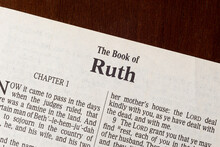 The Book Of Ruth Title Page Close-up