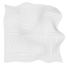 Distorted Grid Pattern. Abstract Distorted Wave Texture.