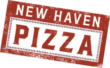 New Haven Style Pizza Menu Stamp