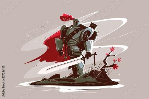 Fotografia Medieval strong knight