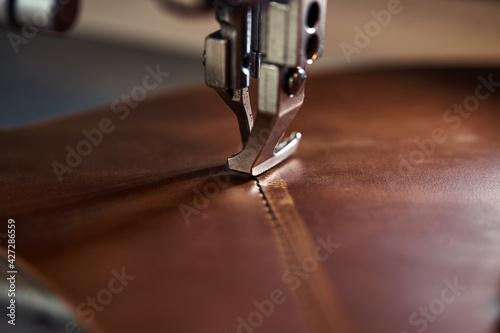 Fotografia, Obraz Working process of leather craftsman