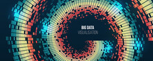 Big Data Visualization. Abstract Background With Spiral Array And Binary Code. Connection Structure. Wide Data Array Visual Concept. Big Data Connection Complex.