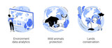 Earth observation abstract concept vector illustrations.