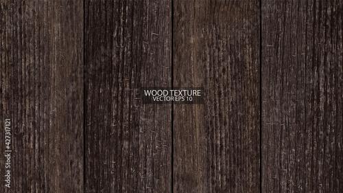 Canvas Dark brown wooden background, EPS 10 vector