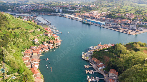 aerial view of pasaia bay in basque country, Spain