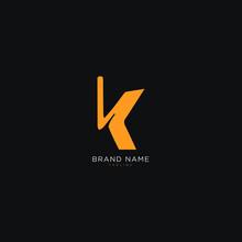 Alphabet K, KK Logo Design, Monogram, Icon, Premium Business Typeface. Editable Color Choice High Resolution File.