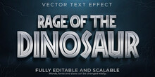 Dinosaur Editable Text Effect, Monster And Scary Text Style