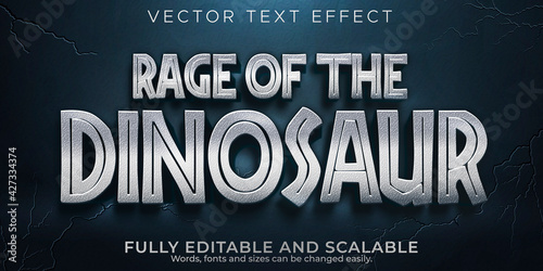 Fotomural Dinosaur editable text effect, monster and scary text style