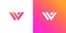 Modern Geometric Creative Elegant Letter W Logo Template. Vector Icon
