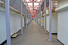 Shopping Arcades In The Market Are Closed For Quarantine, Empty Area