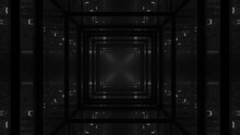 3D Rendering Of Cool Futuristic Kaleidoscopic Black Patterns Background