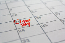 US Tax Day Marked On Calendar In May 17 2021 To Illustrate The New Extended Date For IRS Federal Income Tax Returns. USA Tax Deadline Concept