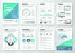 Bundle infographic elements data visualization vector design template