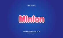 Editable Text Effect Minion Title Style