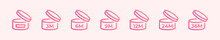 PAO Icons. Cosmetic Open Month Life Shelf. Period After Opening. Expiration Period Months. Symbols Set. Vector Illustration