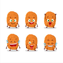 Cartoon Character Of Chicken Nugget With Smile Expression