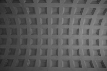 Vaulted Ceiling. Patterns On The Ceiling Of The Arch Of The Arc.