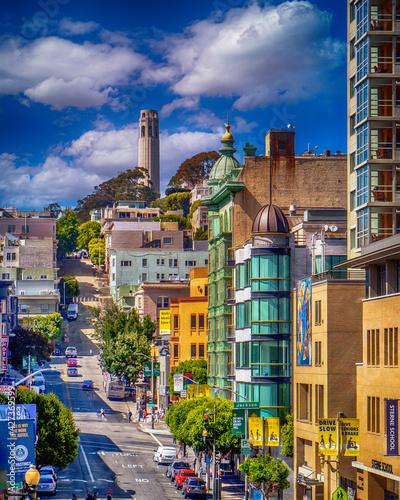 Canvas Print San Francisco, Telegraph Hill
