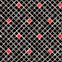 Vector Red Squares Check Black Seamless Pattern